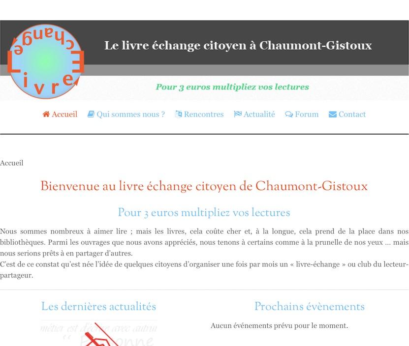 Site du Livre échange citoyen