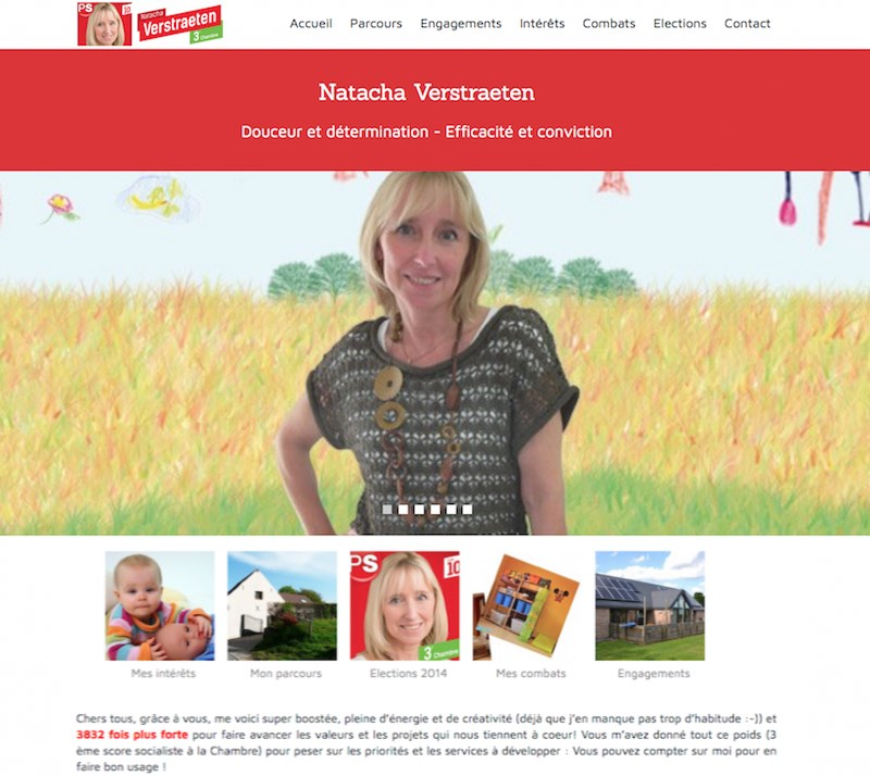 Site de Natacha Verstraeten